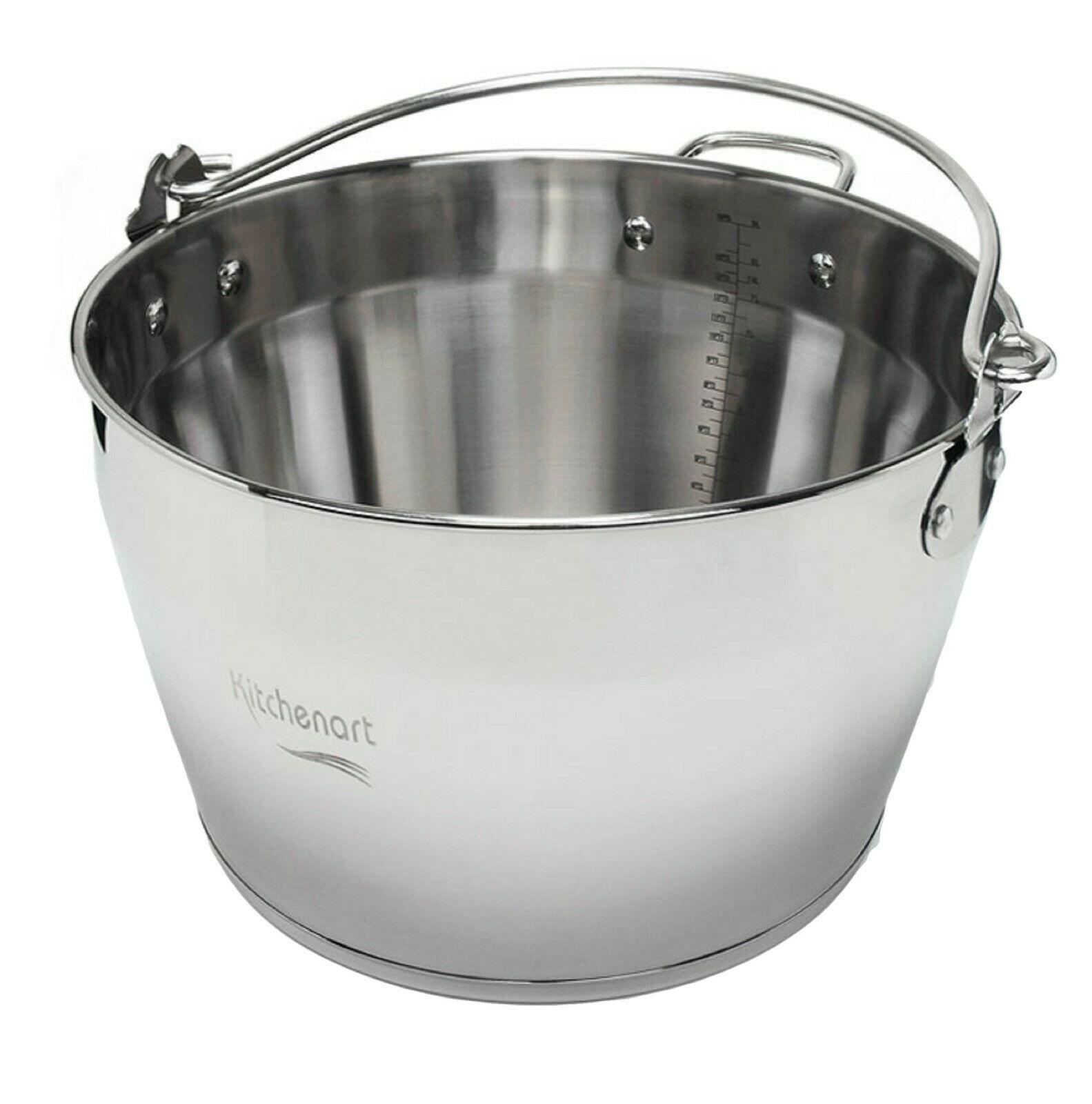 KichenArt Stainless Steel Induction Jam Pot Bucket Multipot Basket 9L (No Lid)