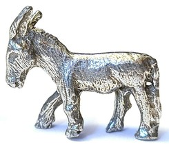 DONKEY FINE PEWTER FIGURINE - Approx. 3/4 inch tall   (T181)