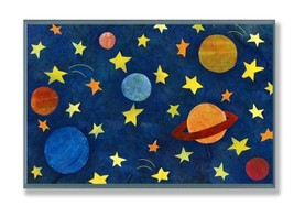 The Kids Room by Stupell Planets and Stars Rectangle Wall Plaque - $34.46
