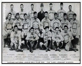 MLB 1906 Pennant Winners Chicago Cubs Team Picture 8 X 12 Photo Free Shi... - $9.99