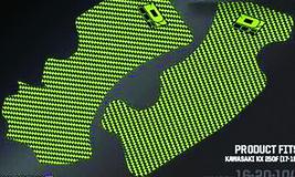 FRAME GRIP GUARD DECAL GREEN/BLACK D'cor Visuals - $29.95