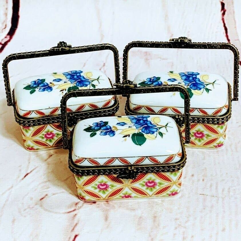 Primary image for Ceramic Trinket Boxes Set of 3