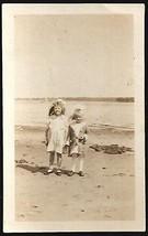 Beach Girls Vintage Photograph Sweet Darling Childhood Children Image - $14.99