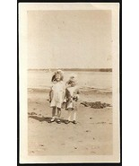 Beach Girls Vintage Photograph Sweet Darling Childhood Children Image - $14.99