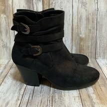Aerosoles A2 Women Positivity Black Suede Ankle Boots Size 7.5M - $19.80