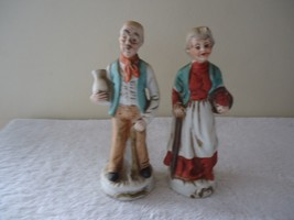 """Vintage Set Of Old Man And Old Woman Ceramic Figurines """" GREAT COLLECTIB... - $23.36"""