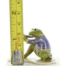 Hagen Renaker Miniature Frog Toadally Brass Band Flute Ceramic Figurine image 2