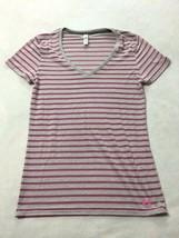 Under Armour M Burnout Stripe Shirt Purple Gray Charged Cotton Legacy Me... - $10.99