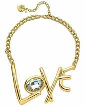 Betsey Johnson xox Trolls Women's 'Love' 18-in Gold-Tone Necklace - $28.40