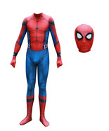 Adult Homecoming Spiderman Cosplay Suit Spandex Full Bodysuit Halloween ... - $49.99