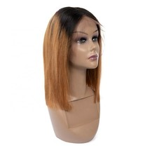 Short Straight Bob Ombre Brown T-part Lace Front Wig Women Human Hair Wigs - $89.75+