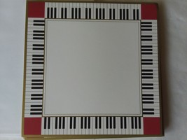 "19 Card Stock 8"" x 8"" Piano Keys Stationary with 19 Envelopes Burgundy B... - $18.53 CAD"