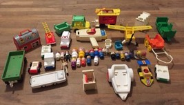 Vintage Fisher-Price - Playskool - Hasbro Toy Lot 1970s Little People We... - $88.83