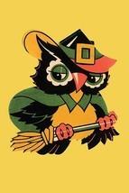 Wizard Owl on Broomstick - Art Print - $19.99+