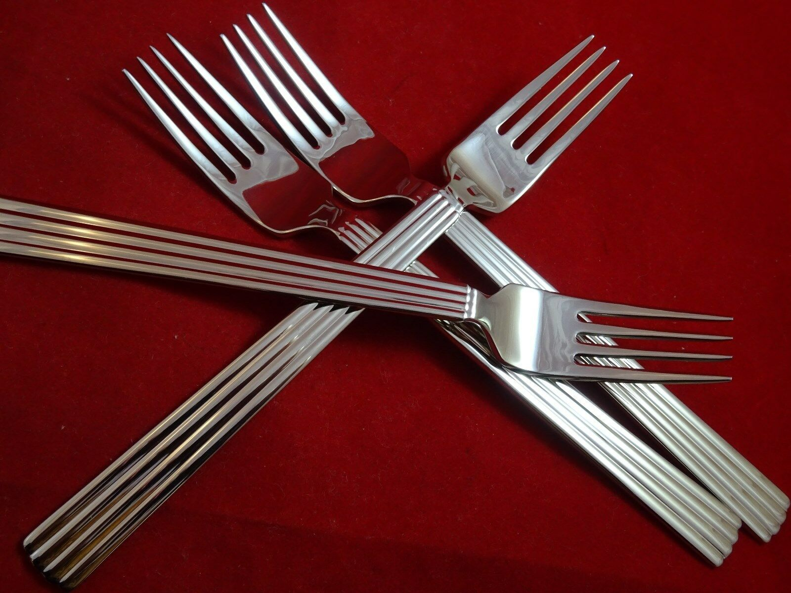 4 New Bernadotte Stainless Steel Luncheon Forks  by Georg Jensen   - $120.00