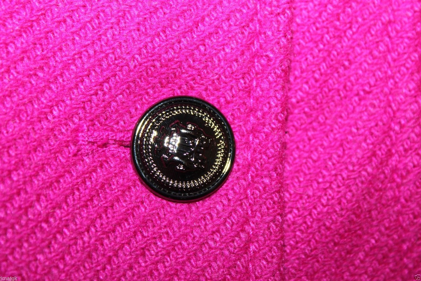 Gap Kids NWT Girl's XXL 13 Pink Boucle' Wool Blend Pea Coat Jacket