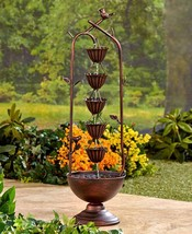 Bronze Fountain 5 Tier Rain Chain Large Garden ... - $59.39