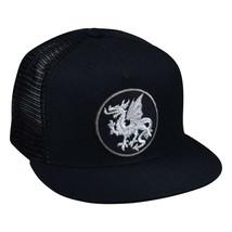 Silver Dragon Trucker Hat - Black Snapback - £14.66 GBP