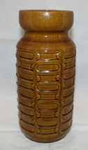 """Vintage Carstens West Germany Pottery Brown Tall Vase 28.5cm 11.25"""" E1-28 - $64.80"""