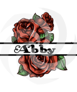 Flower Split Monogram Abby 104smp-Digital Clipart-Art Clip-Gift Cards-PN... - $1.99