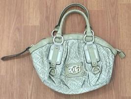 Guess Handbag Purse Beige Logo Print - $31.68