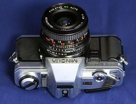 MINOLTA X-370 VINTAGE SLR 35mm Film Camera Five Star MC F2.8 28mm Lens J... - $64.80