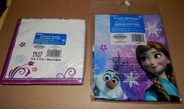 """Disney Frozen Princesses Party Table Cover 54"""" x 84"""" & 16 Napkins 13"""" x ... - $6.49"""