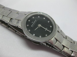 SKAGEN Steel Women's Quartz Watch Black Dial w/ Swarovski w/ Fresh Battery - $69.29