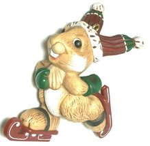 Hallmark Keepsake Christmas Ornament Ice Skating Rabbit ©1983 - $5.86