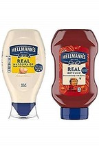 Hellmann's Real Mayonnaise and Ketchup, Squeeze, 20 oz, 2 Pack