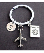 Personalized Passport Traveling Document Airplane Keyring Keychain - $10.00
