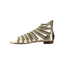Marc Fisher Braided Gladiator Sandals Pepita Gold 9M NEW A305395 - $47.50