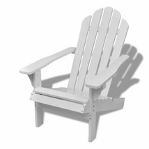 vidaXL Painted Solid Firwood Garden Chair White Outdoor Patio Adirondack... - $93.99