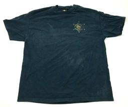 VINTAGE  Emerica Deputy Sheriff Shirt Size Extra Large XL Blue Short Sle... - $17.83