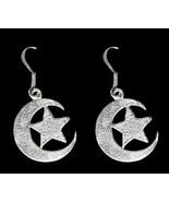 NICE Celtic earrings Maiden moon star tattoo symbol Genuine sterling sil... - $29.63