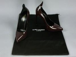 YSL Saint Laurent Paris Patent Burgundy Leather Pumps High Heels Shoes S... - $267.29