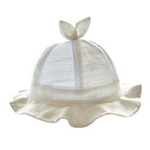 Baby Hat Cotton Sunhat Summer Hat Lovely Cap Foldable Beach Hat Nice Gift Yellow