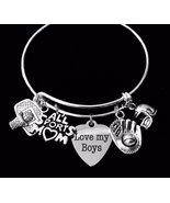 Basketball Baseball Football All Sports Mom Expandable Silver Charm Brac... - $32.99