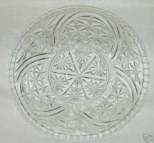 Anchor Hocking Stars & Bars Pattern Torte Plate - $14.80