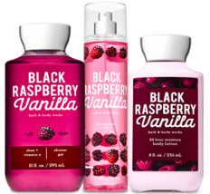 Bath & Body Works Black Raspberry Vanilla Trio Gift Set  - $45.95