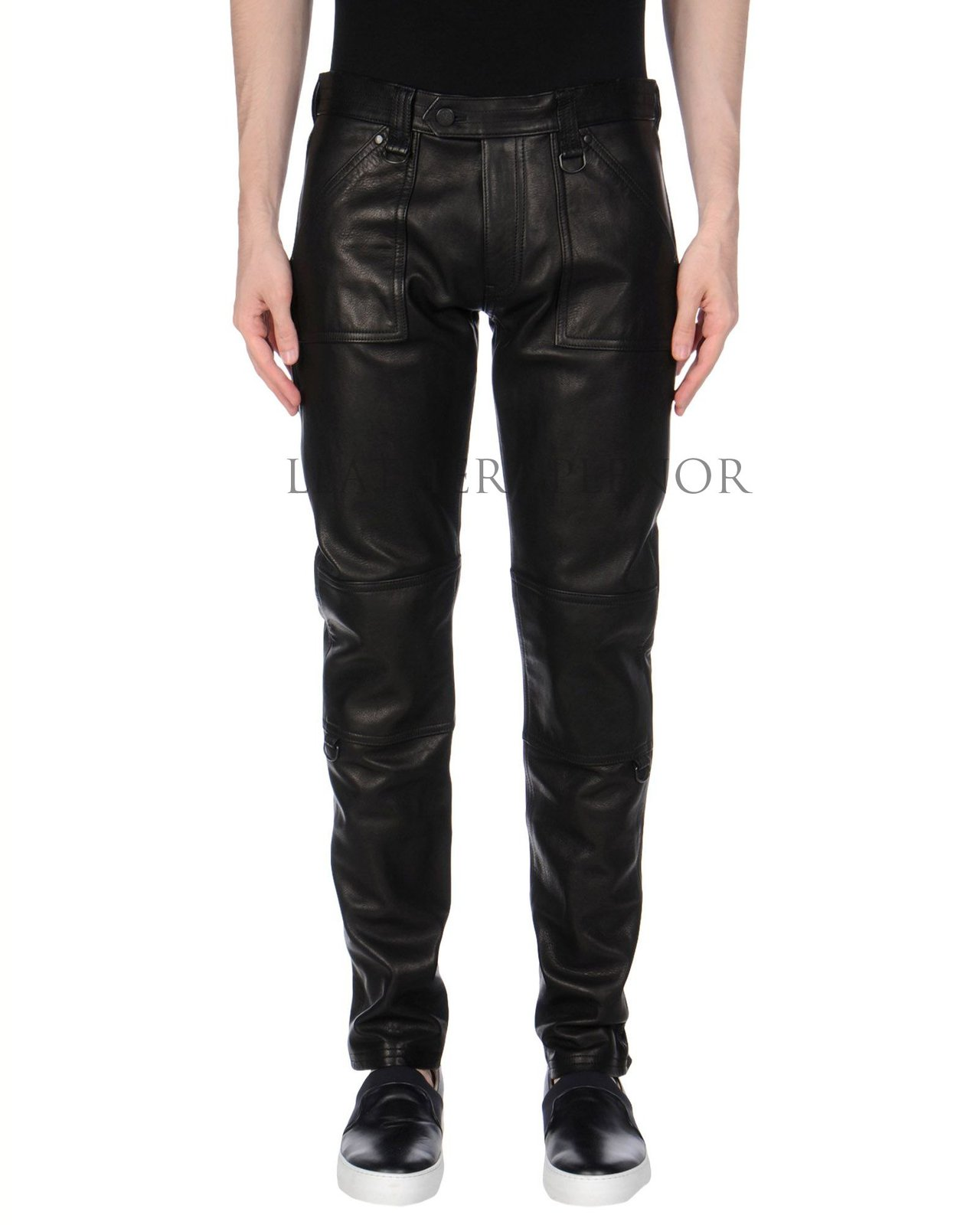 BIKER STYLE MEN LEATHER PANT