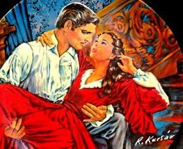 """Scarlett and Rhett"" by Raymond Kursar Plate with Knowles Box AA20-CP2233 - $79.95"