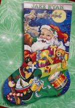 Bucilla Jolly Old St Nick Santa Christmas Eve Cross Stitch Stocking Kit ... - $72.95