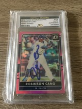 2017 Donruss Panini Optic Robinson Cano #136 Autograph Signed Baseball Card COA - $18.52