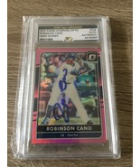 2017 Donruss Panini Optic Robinson Cano #136 Autograph Signed Baseball C... - $18.52