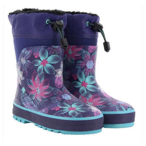 Western Chief Kids' Neoprene Boot, Purple NEW Without Box