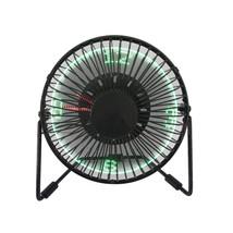 USB LED Clock Fan Mini Portable Desktop Fan With Real Time Display Table - $31.23