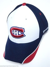 Montreal Canadiens NHL Reebok White Blue Red Logo Hat Cap Structured Adj... - €13,12 EUR