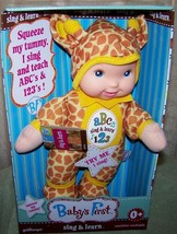 Goldberger  Basic Training Sing & Learn Doll in Giraffe Outfit New - $16.50