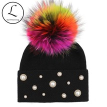 "GZHILOVINGL 2017 Winter Hats Skullies Beanies Women""s Winter Fur Ball Ca... - $29.70"